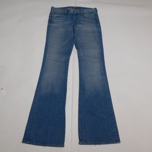 7 for all Mankind 28 Blue Denim Jeans Bootcut Cott